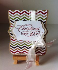 Love the unique shape and touch of sparkle on this card from Kristy Cooley.