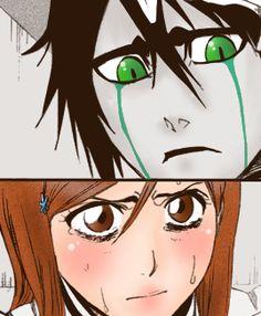 Ulquiorra and Orihime Studio Ghibli Wallpaper, Ulquiorra And Orihime, Eden Girl, Bleach Couples, Anime Version, Bleach Anime, Noragami, Sword Art, Beauty And The Beast