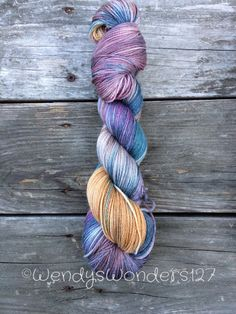 Hand Painted Yarn Hand Dyed Yarn Fingering by WendysWonders127