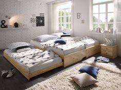Tandembett Pinea » Kinderbetten von massivum Teenage Room, Beautiful Color Combinations, Baby Kids, Toddler Bed, Inspiration, Furniture, Grad, Design, Home Decor
