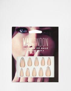 WAH London Press On Nails - French Deep V