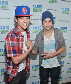Justin Bieber and Austin Mahone Photo - Justin Bieber and Austin Mahone Visit The Elvis Duran Show