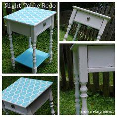 So Distressed...A Furniture Redo - One Artsy Mama