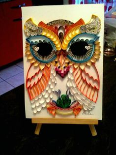Quilled owl  by: Nacea