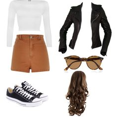 Untitled #3 by clounouc on Polyvore featuring polyvore fashion style WearAll Balenciaga River Island Converse Ray-Ban