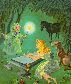 Cinderela e a Fada Madrinha pintura
