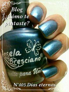 Colección Otoño-Invierno Angela Bresciano #swatches #nails #uñas #comotepintaste #esmaltes #polish #teal #celeste #angelabresciano