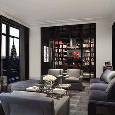 Robert Granoff - Dark window frames & library book shelves