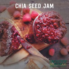 This Rasberry Chia Seed Jam, created for us by the @whereisksenia, lives outside the law — jam law that is. Because when you use chia seeds, there's no need for pectin!