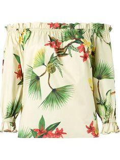 Isolda Off Shoulder Floral Tunic - Destination Brazil - Farfetch.com