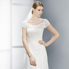 Glamorøs & Dramatisk Blonde Naturlig Billige Bryllupskjoler
