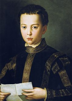 Il Bronzino - Portrait of Francesco, son of Cosimo I de Medici ca.1551