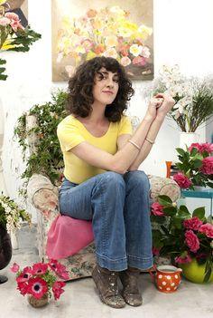 Artist Laura Jones // I love her hair!
