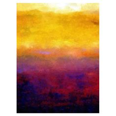 Bring gallery-worthy appeal to your walls with this artful canvas giclee print, showcasing an abstract sunset motif. Made in the USA.