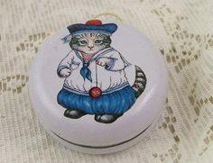 Yes!! ---> Vintage Original KITTY CUCUMBERS TIN LITHOGRAPH Yo-Yo Toy B. Shankman NY 190s - 1