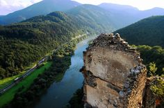 View from Strečno Castle, Slovakia. Carpathian Mountains, Heart Of Europe, Nature View, Abandoned Mansions, Mountain Landscape, Heaven On Earth, Oh The Places You'll Go, Old World, Natural Beauty