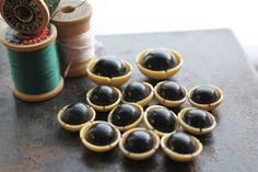 Antique French Ivory Celluloid Buttons