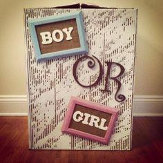 Gender Reveal Box I made :)