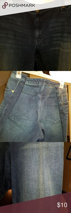 Jeans Dark wash boot cut mid rise jeans never worn Mossimo Supply Co Jeans Boot Cut