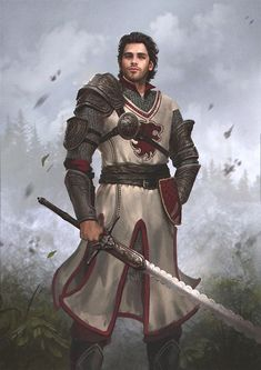 Human Fighter Warrior – Pathfinder PFRPG DND D&D fantasy - Character inspiration Fantasy Male, Fantasy Armor, Medieval Fantasy, Dark Fantasy, Fantasy Fighter, Dungeons And Dragons Characters, D D Characters, Fantasy Characters, Fantasy Portraits