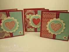 Stampin Up Valentine Cards | ... Sandy: Valentine Love Notes plus Two New Promotions From Stampin' Up