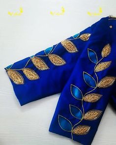 Best saree blouse sleeve designs images in 2020 - Simple Craft Ideas Kerala Saree Blouse Designs, Cutwork Blouse Designs, Simple Blouse Designs, Stylish Blouse Design, Embroidery Neck Designs, Blouse Designs Catalogue, Hand Work Blouse Design, Designer Blouse Patterns, Designs For Dresses
