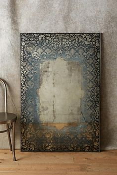 Anthropologie Dissolved Lace Mirror A border of lace fades into a reflective surface, for the antique effect of a mirror discovered long ago. (afflink)