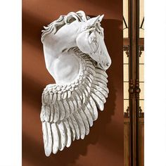 """Wings of Fury"" Pegasus Horse Wall Sculpture"