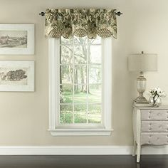 Update your window with this Waverly Garden Glory scalloped floral valance. In green. FEATURES x Floral print rod pocket CONSTRUCTION & CARE Cotton Polyester fill Machine wash Imported Size: One Size. Small Window Curtains, Small Windows, Kitchen Curtains, Valance Curtains, Bedroom Curtains, Decorative Curtain Rods, Thing 1, Space Furniture, Home Decor Outlet