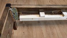 Simple Bed | Etsy Minimalist Bed Frame, Modern Minimalist, Simple Bed, Dark Walnut, California King, Beams, In The Heights, Bed Frames, Flooring