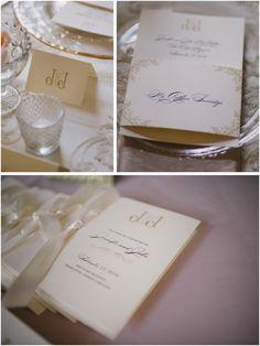 Keldie-McMillian Wedding. All graphic design: Olive Paper. Planning: Carolina Event Design. Photography: Smitten & Hooked Photography. #programs #monogram #place #cards #duke #bride #charlotte #inspiration