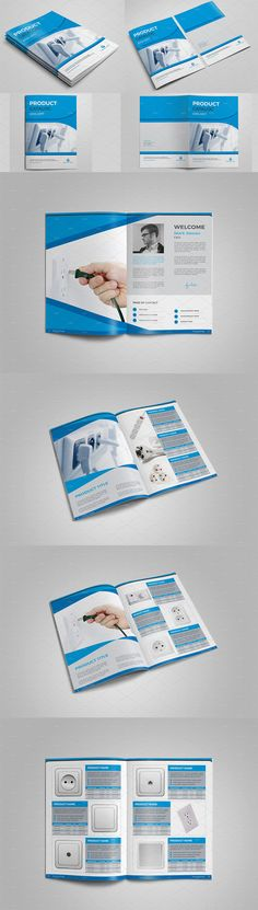 Product Catalog Brochure Template PDF, INDD