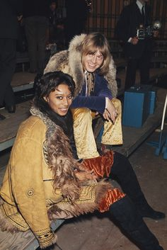 Donyale Luna and Brian Jones at the rehearsals for The Rolling Stones Rock and Roll Circus, 1968. Photos © Rolls Press/Popperfoto