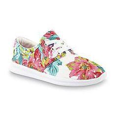 Athletech Women's Calypso White/Multicolor Floral Print Casual Shoe