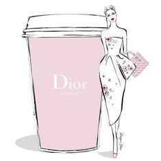 A gigantic Dior Expresso please. Stylish illustration by Megan Hess. Megan Hess Illustration, Coffee Illustration, Illustration Art, Poster Café, Kerrie Hess, Arte Fashion, Paper Fashion, Dior Fashion, Coffee Girl