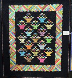 """""""President's Baskets"""" by Cindy Chadwick,  in: Quilt Inspiration: 2012 Wine Country quilt show"""