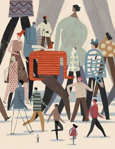 Editorial Illustration by Keith Negley Art And Illustration, People Illustration, Illustrations And Posters, Character Illustration, Graphic Design Illustration, Mail Art, Magazin Design, You Draw, Graphic Design Inspiration