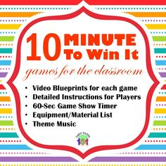 Minute To Win It Games for Kids and B-day Parties! |