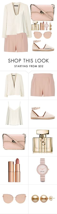 """""""*ESPIDRILLES*"""" by jjlenka on Polyvore featuring MANGO, Moschino, Raey, Valentino, Gucci, Charlotte Tilbury, Nine West and Topshop"""