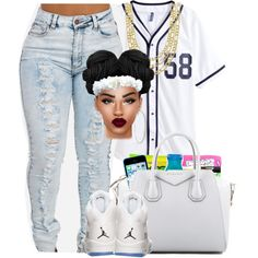 there's fire in my schooll.......ooohhhh laawwwdddd jesus by independentbxtchesonly on Polyvore featuring Givenchy, Fremada and Roberta Chiarella