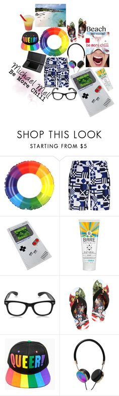 """""""Michael Mell, At The Beach"""" by lee-kenfin ❤ liked on Polyvore featuring Polo Ralph Lauren, ThinkGeek, Bare Republic, Hot Topic, Frontgate, men's fashion, menswear, contest, beachday and beach"""