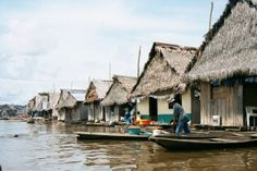 Belen, Iquitos, Peru. Floating houses. (the venice of Peru). This very poor area of Iquitos is quite charming, although dirty and smelly, and you can find some amazing artisans or delicious snacks foor next to nothing. Anything you need in Iquitos you will be able to find at the Belen Market (Mercado Belen)
