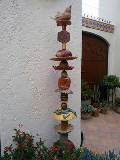 Pottery Garden Totem .... by Probst Pottery