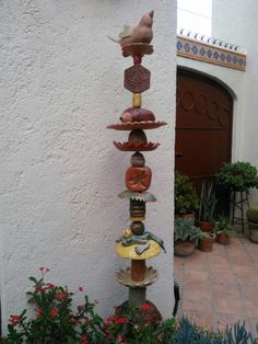 Pottery Garden Totem .... by Probst Pottery