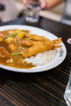 A massive plate of ebi curry rice at Coco Ichibanya in Singapore.