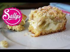 Rhabarberkuchen mit Vanillecreme und Streuseln - Sallys Blog