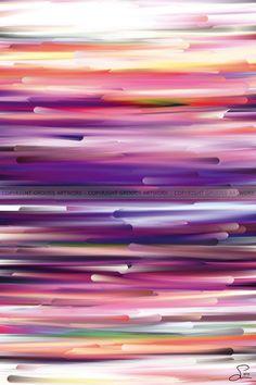 New worlds ''Three'' - 40 X 60 cm - Grafisk kunst på lærred af Søren Grooss