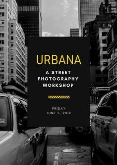 Monochromatic Urban Photography Background Workshop Flyer