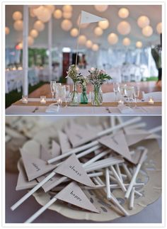 craft paper flags