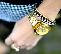 LOVE @mystylepill in a DIY chain and rhinestone bracelet!